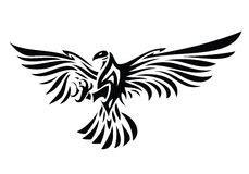 Aquila Tribal Set tatuaggio dell aquila illustrazione vettoriale