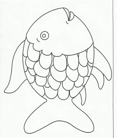 fish coloring pages for preschool rainbow fish template az coloring pages
