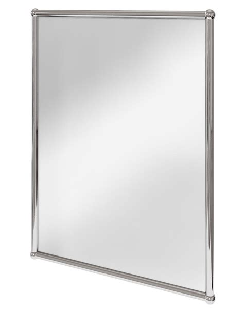 burlington rectangular mirror with chrome frame a11 chr