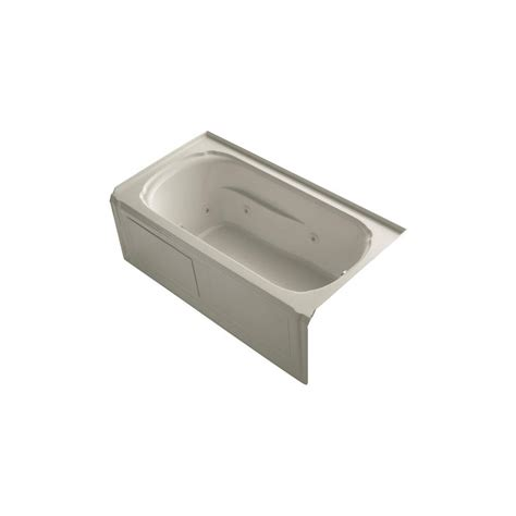 5 foot whirlpool bathtub kohler portrait 5 ft whirlpool tub in sandbar k 1109 ra