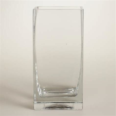 Square Clear Vases by Clear Glass Square Vases World Market