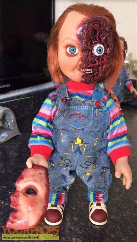 movie replica chucky doll child s play 3 custom half face chucky 3 doll 15 inches