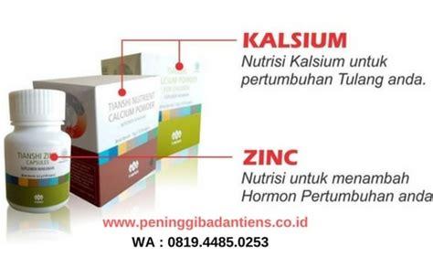 Peninggi Badan Tiens Kalsium Dan Zinc Paket 30 Hari Grow Up 1 jual paket obat peninggi badan tiens nhcp zinc asli