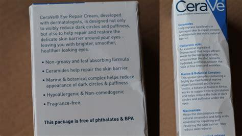 Cerave Eye Repair 14 2 Gram cerave eye repair review