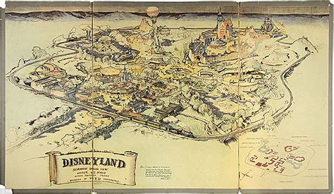 online land layout disneyland map from 1953 fetches 708 000 at auction