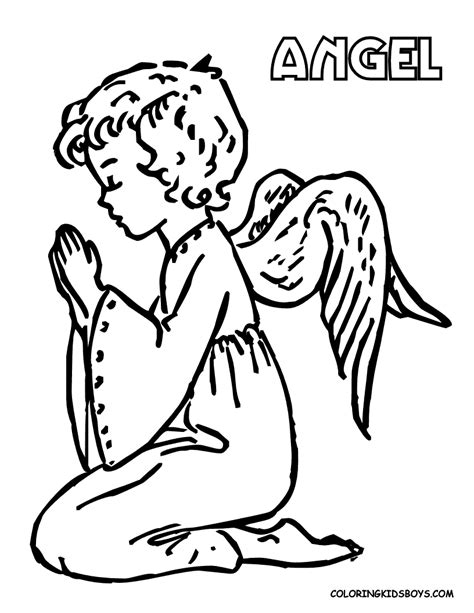 boy angel coloring page free coloring pages of angel