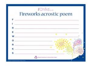 firework shape poems template fireworks acrostic poem ichild