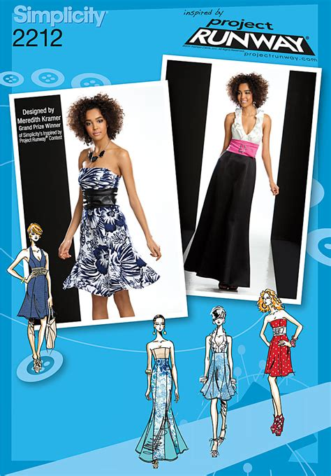 pattern runway review simplicity 2212 misses dresses project runway collection