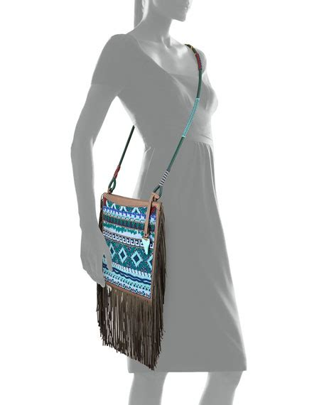 Beaded Crossbody Bag etro beaded fringe crossbody bag blue multi
