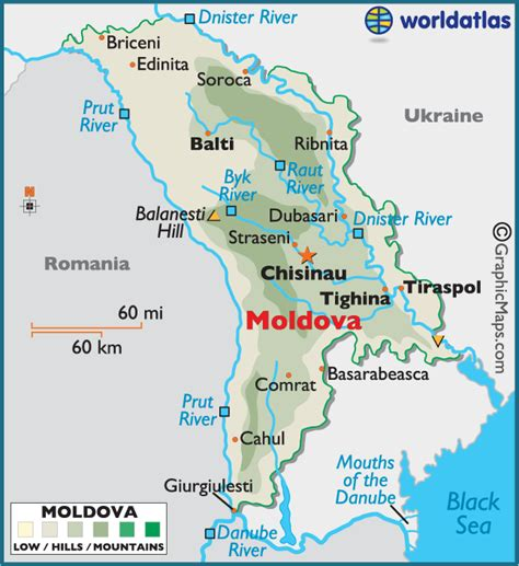 5 themes of geography ukraine moldova large color map