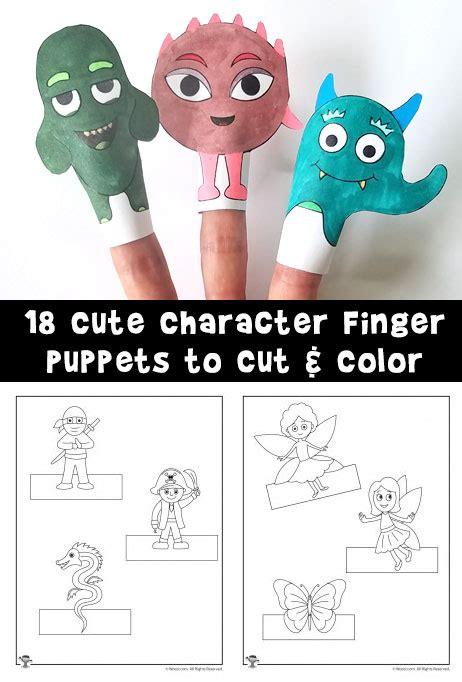 printable finger puppets  cut  color woo jr kids