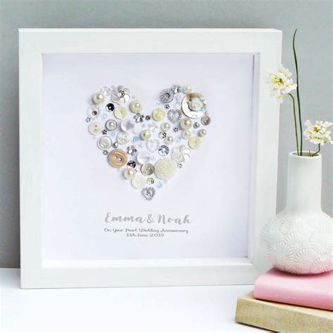 Wedding Anniversary Gifts Pearl by Personalised Pearl Anniversary Gift By Sweet Dimple