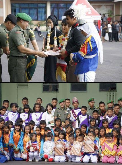 Baju Tni Ad Doreng Tk No 2 5 Karnaval upacara penutupan lomba drum band tingkat tk sd smp dan sma sesumbagsel dalam rangka hut ke 66