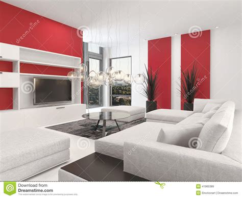 Charming Large Estate House Plans #8: Contemporary-living-room-interior-red-accents-white-decor-lounge-suite-colorful-vibrant-large-television-set-41965389.jpg