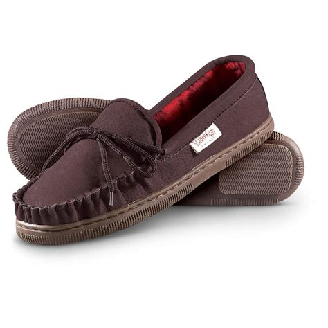 fleece lined mens slippers s staheekum 174 country flannel lined slippers 234051
