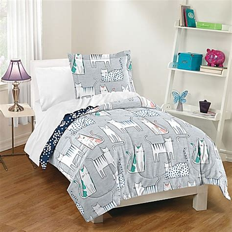 dream factory bedding dream factory purrfect cats comforter set in grey bed