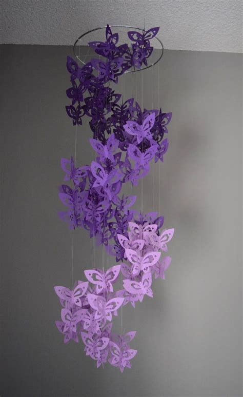 How To Make A Paper Butterfly Chandelier - spiral paper butterfly mobile chandelier in by