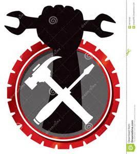 Garage Designers remontowy mechanika logo zdj cia royalty free obraz