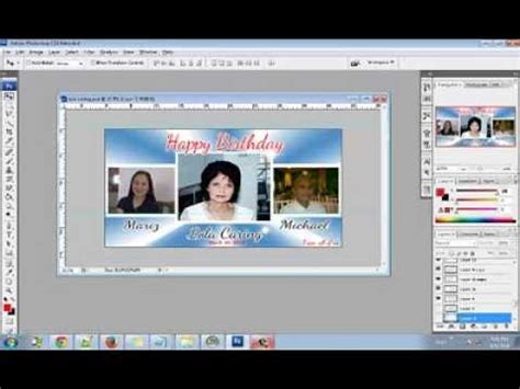 layout design maker for tarpaulin how to make a 4x2ft tarpaulin birthday layout using adobe