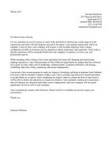 cover letter for an resume cover letter exles 2015 2016 cover letter