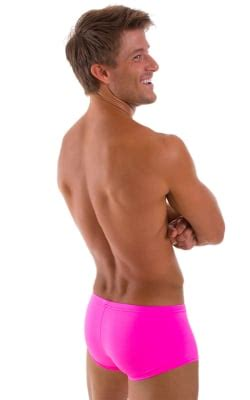 Boxer Pink Square skinz fitted pouch boxer swimsuits