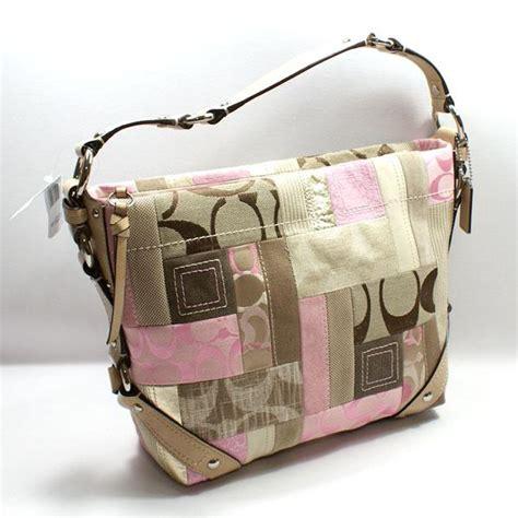 Pink Patchwork Coach Purse - bolsos de trapillo coach pink patchwork handbag