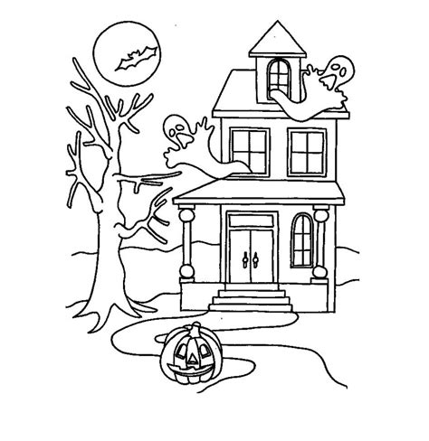 printable coloring pages of haunted houses free printable haunted house coloring pages for kids