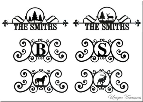 Handcrafted Plaques - house plaques signs monograms custom wrought iron
