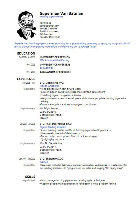 Pdf Resume Template by Pdf Resume Template Learnhowtoloseweight Net