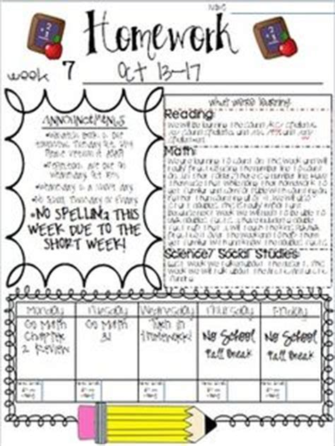 Homework Cover Sheet by 1000 Ideas About Weekly Homework Sheet On