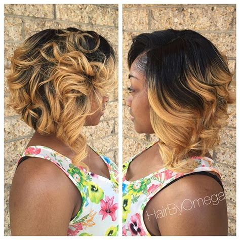 blonde ombre feathered styles for african americans 30 trendy bob hairstyles for african american women 2018
