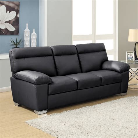 cheap black leather sofa cheap leather suites uk chairs seating