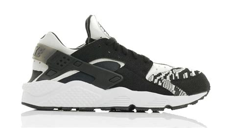 black and white pattern huaraches nike air huarache run knit black white sneaker bar detroit
