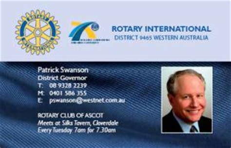 rotary club business card template rc ascot business cards for rotarians and clubs