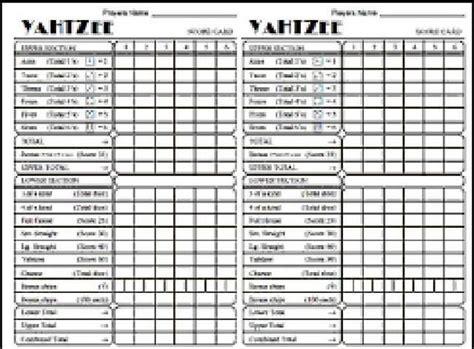 printable yahtzee score card printable yahtzee score cards smart photoshot card pad in