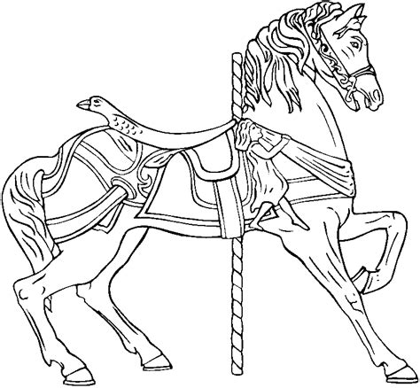 coloring pages of carousel horses artist loft free carosel coloring book pages