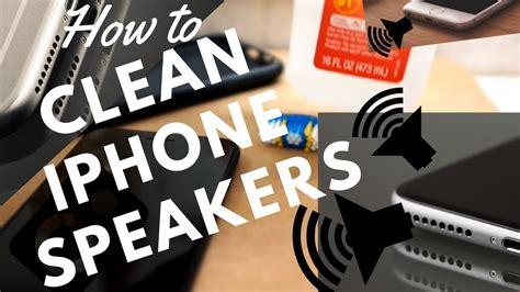 clean iphone speakers youtube