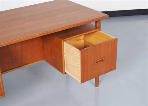 Danish Modern Floating Top Desk At 1stdibs Modern Floating Desk