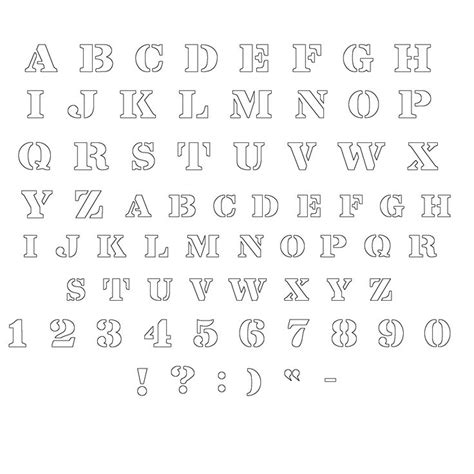 free printable outline fonts 1000 images about stencils on pinterest flower stencils