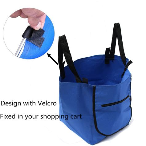 Supermarket Trolley Organizer Bag Shopping Bag 4 Pcs Keranjang Belan 2 supermarket trolley shopping organizer tote eco grocery extend cart reusable foldable
