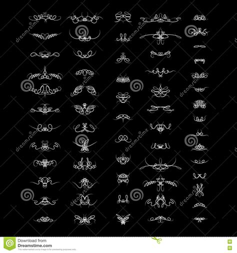 design elements html calligraphic design elements and wicker lines in vector