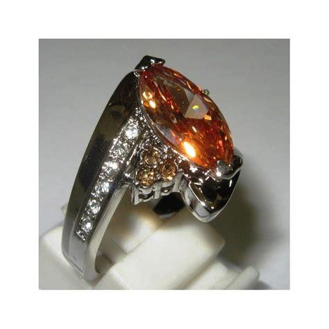 Bahan Citrine jual cincin wanita bahan gold filled ring 7us model citrine cz