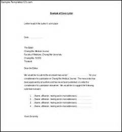 cover letter to editor scientific journal sle letter to the editor slesexle letter exle of a