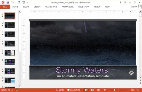 Animated Storm Video Animation For Powerpoint Hurricane Powerpoint Template Free