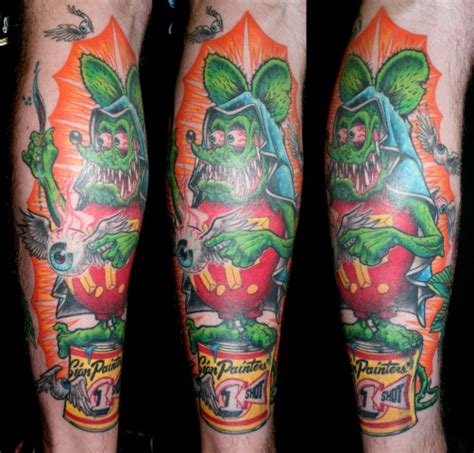 rat fink tattoo deadly tattoos inc
