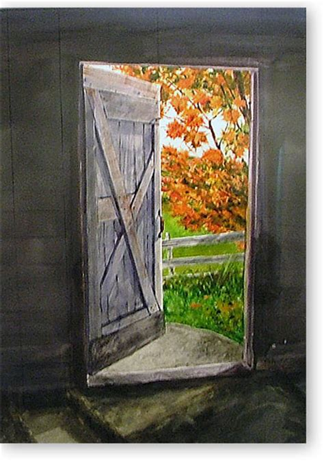 Looking Out Looking In todd gallery quot looking out the barn door quot