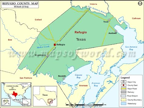 map of refugio texas refugio county map map of refugio county texas