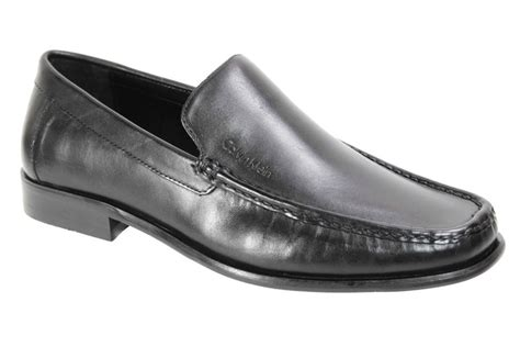 calvin klein mens dress shoes calf leather slip on loafers