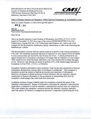 Letter Of Interim Agreement Request For Contract Hhsm500200700015i And Related Contracts