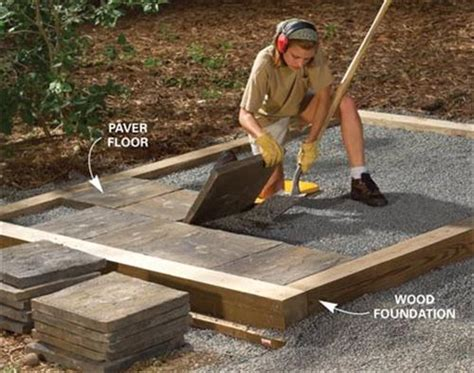 storage building foundation      patio